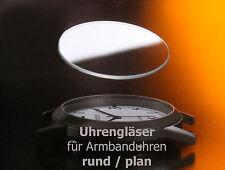 neues UHRENGLAS rund / plan -> für Armbanduhr ab 18 mm Durchmesser: AUSWAHL