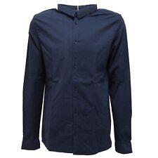 6818R camicia bimbo SP1 blu manica lunga shirt long sleeve kid