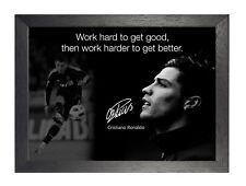 Cristiano Ronaldo 27 PORTOGHESE PROFESSIONALE CALCIATORE motivazionale POSTER