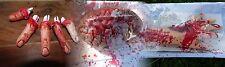 Blutige HAND /HERZ Ohren Fuss HORROR HALLOWEEN-DEKO BLUT EINGEWEIDE Körperteile