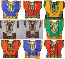 """Dashiki Shirt Boys Hippie Top African Girl Kids Wear Plus Size 34-36"""" around"""
