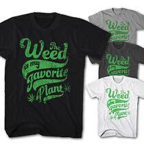 T-shirt Hommes weed marijuana est mon préféré plante Fête Musique nouveau wp4117