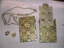 borsa gioiello rigida 10x15 cm con tracolla 110 cm  filigrane  bag piu 2 piastre
