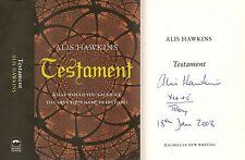 Alis Hawkins - Testament - Signed - 1st/1st