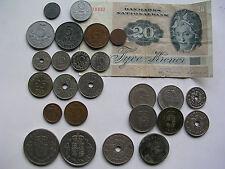 dänische Münze Dänemark 1 2 5 10 25 50 Öre 1 Krone 2 5 10 20 Kronen 1931-1996