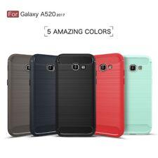 Housse etui coque silicone gel carbone Samsung Galaxy A5 (2017) + verre trempe