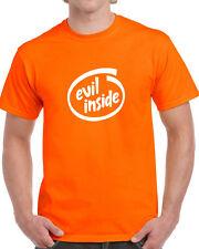 EVIL INSIDE Fantaisie Halloween T-shirt fantôme effrayant informatique geek funny tee Intel