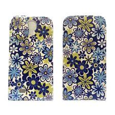 bianco blu e verde stampa floreale Flip custodia in pelle per Samsung Galaxy