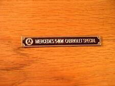 Pocher 1/8 Mercedes Benz 540K Cabriolet Special Metal Display Plaque