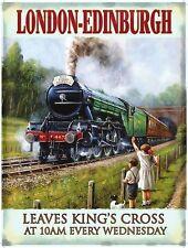 The Flying Scotsman Steam Locomotive LNER Railway Train UK, Large Metal/Tin Sign