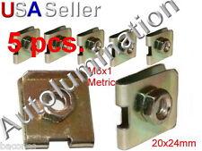 U J Fold Over Clip Floating Nut M6X1 Body Fender Dash Door Instrument Panel Door