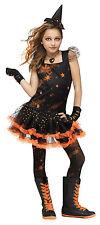 Child Sparkle Star Witch Girls Costume