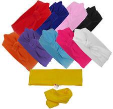 Haarband mit Schleife in 10 verschiedenen Unifarben  Stirnband rockabilly