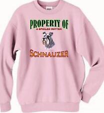 Big Dog Sweatshirt Property Spoiled Rotten Schnauzer Men Rescue Animal T Shirt 7