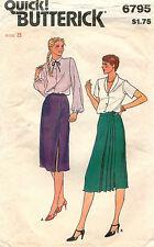 1970s  Butterick Misses'  Skirt Pattern 6795 Size 8 Waist 24