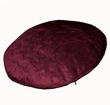 mn120n Claret Shimmer Crushed Velvet Style Round Shape Cushion Cover Custom Size