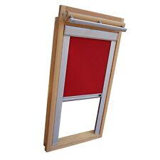 Sichtschutzrollo mit Schienen für Velux Dachfenster GGL/GPL/GHL - weinrot