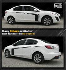 Mazda 3 Rally Racing Side Hockey Stripes Decals 2009 2010 2011 2012 2013