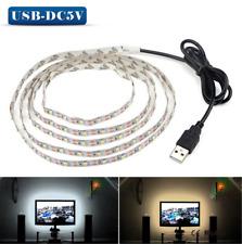 5V 50CM 1M 2M 3M 4M 5M USB Cable Power LED strip light lamp SMD 3528 Christmas