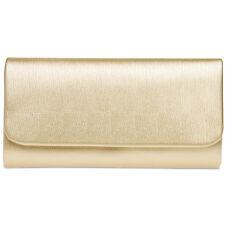 CASPAR TA371 Bolso de Mano Fiesta Elegante Mujer Señora Clutch Largo Metalizado