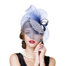 Womens Kentucky Derby Royal Ascot Church Dress Veil Bow Party Fascinator T244