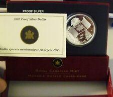 CANADA 2005 CANADA SILVER ARGENTO DOLLARO PROOF ORIGINAL BOX FONDO SPECCHIO