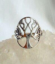 Tree of Life 925 Silver Ring Wicca Witch Pagan Shamanic Reiki Spirituality