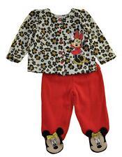 Minnie Mouse Bambine Ghepardo Top 2pc Al Piede Pantalone Set Misura 0/3M 3/6M 6