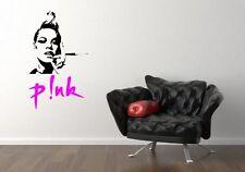 Amazing decal P!NK stunning portrait vinyl decor high quality wall stickers NEW