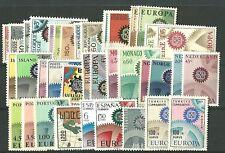 EUROPA CEPT 1967 Annata Completa Nuova MNH ** Gomma Integra