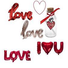 ST.VALENTIN cadeaux romantique OURS BALLONS Message Dans une bouteille amour