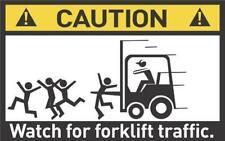 Panneau d'avertissement drôle prudence chariot élévateur à fourche d'exploitation autocollant adhésif