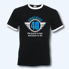 T-Shirt Retro-Shirt, knackige 40, 40. Geburtstag, Ringer T