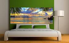 Sticker tête de lit décoration murale Couché de soleil réf 3636 (5 dimensions)