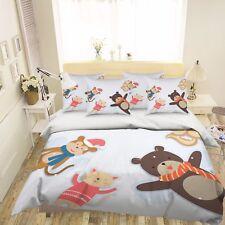 3D Cartoon Toy Animal 63 Bed Pillowcases Quilt Duvet Cover Set Single Queen CA