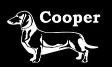 Dachshund sticker, custom dog name vinyl decal, customized stickers