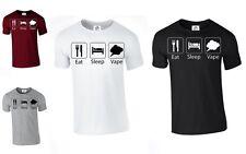 Comer Dormir Vaporizador T-Shirt vapeo fumar e-cig Papá Padres Día Regalo (VAPORIZADOR Camiseta)
