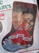 "Needle Treasures Christmas Holiday Counted Stocking Kit,JOYFUL ANGEL,02909,16"""