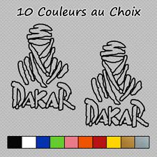 2 Stickers Dakar Touareg Contour logo Paris Decal D-516 Couleurs au choix