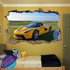 SPORT Auto Ferrari Kids Ufficio Camera Da Letto Vivaio Parete Adesivo Arte Murale Decalcomania XG1