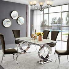 Stół glamour Buffalo blat szklany stolik krzesło
