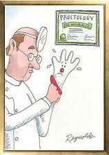 Magnet HUMOR Cartoon Proctologist Glove Hamburger Helper Worried