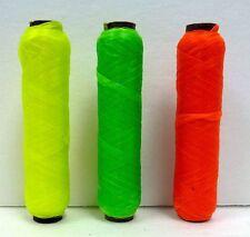 Bright NEON US SINEW BOBBIN Sinue 70# test Brite Color wax thread beading craft