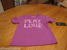 Hurley youth boy's medium kids t shirt surf skate Play loud neon purple NEW logo