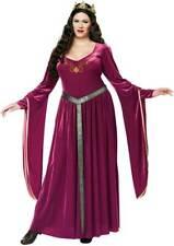 Lady Guinevere Plus Size Adult Women Costume Plum Velvet Gown Belt Half Crown