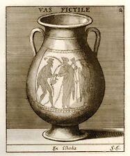 La Chausse's Romanum Museum Eng. -1746- EARTHEN VESSEL
