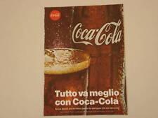 advertising Pubblicità 1969 COCACOLA COCA COLA
