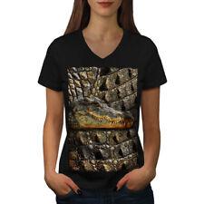 Crocodile Beast Animal Women V-Neck T-shirt NEW | Wellcoda