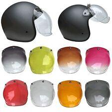 Mkr 3-Snap Retro Escudo Visera de burbuja para Cascos Moto con el apego Flip