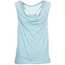 BENCH Skinnie blue sleeveless t-shirt senza maniche donna celeste cod. BLGA2974
